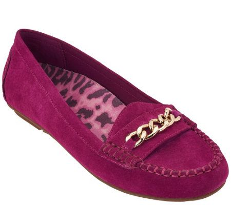 Vionic w/ Orthaheel Orthotic Suede Moccasins - Mesa