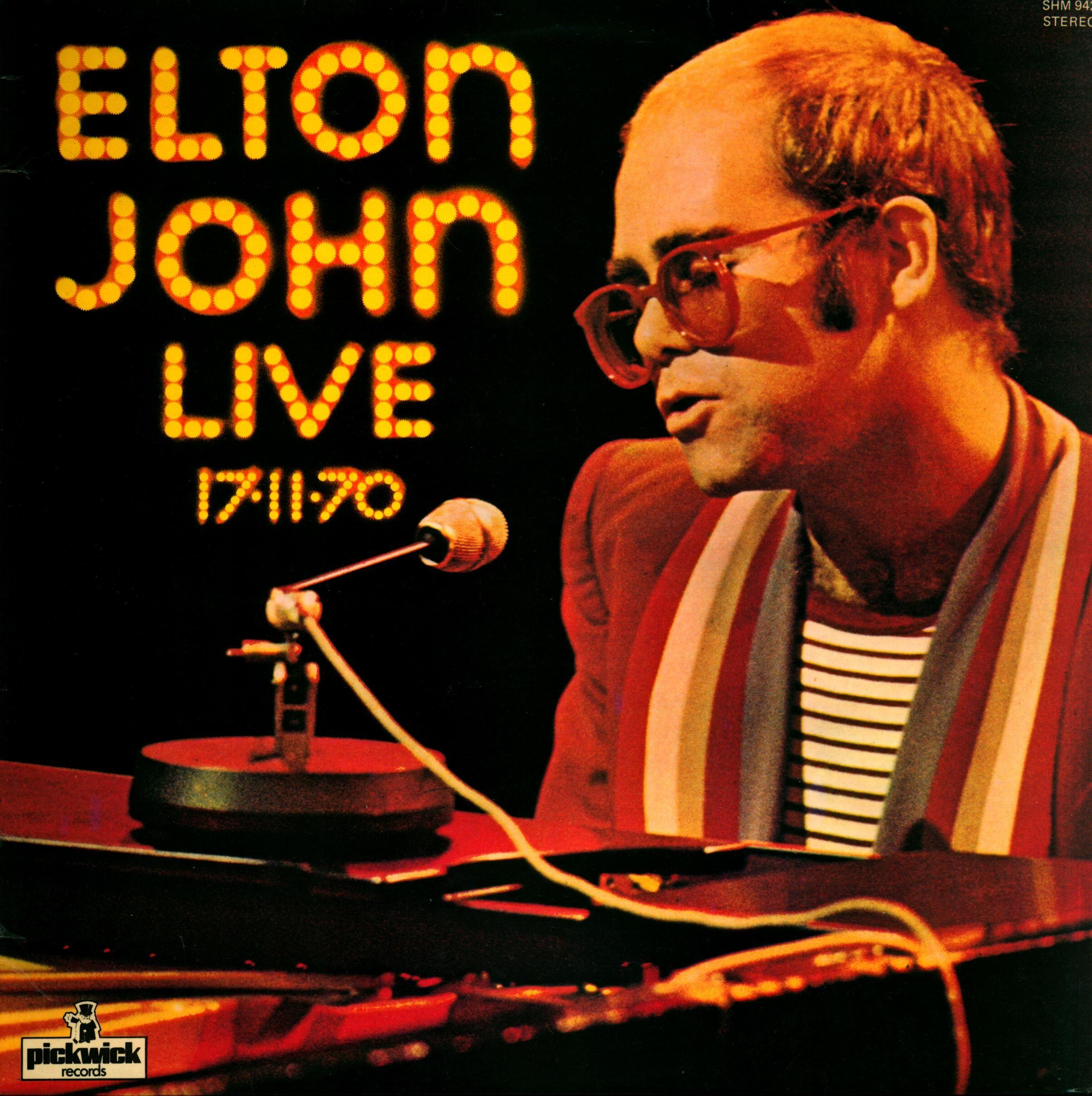 Elton John Live 17 11 70 Elton John Elton John Live Vinyl Record Shop