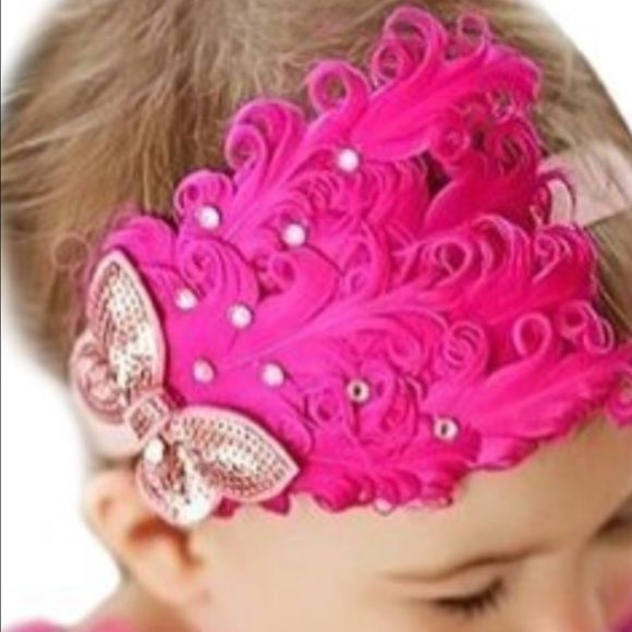 New! Baby headband Very cute in pink color, fits from new born to 2 yr old , stretch  Accessories Hair Accessories