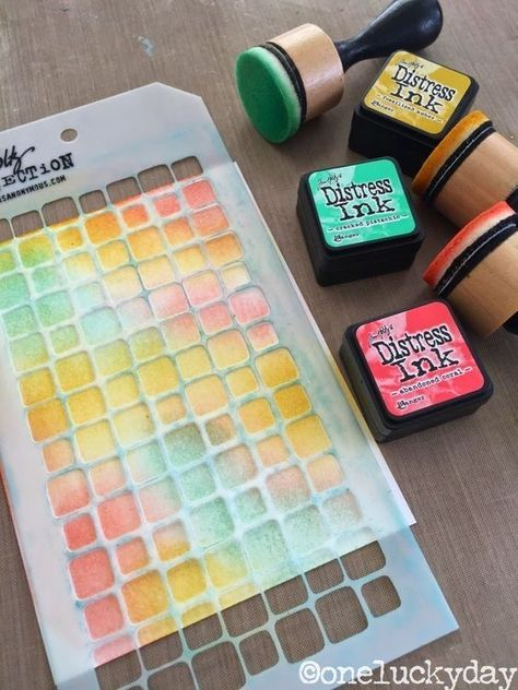 One lucky day distress ink minis set 13 sponged - Lucky color of the day ...