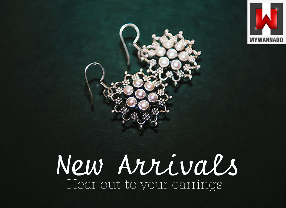 Mix & Match your wardrobe collection with our latest designs in store!!  Get yours now - http://shopping.mywannado.com/earrings?utm_source=pinterest&utm_medium=social&utm_campaign=banner_12_04_2014