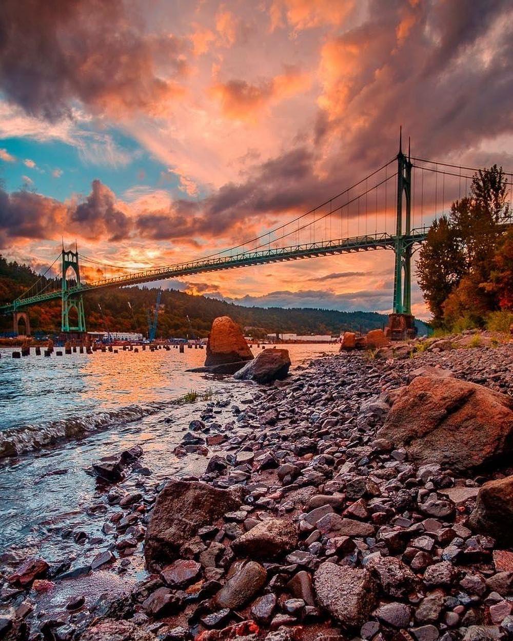 "Clifford Paguio on Instagram: ""St. Johns Bridge in Portland Oregon  #sunset #oregonian #oregonnw #oregon #p #pnw🌲 #pnw #pnw🌲 #pnwlove #pnwlife #pnwphotographer…"""