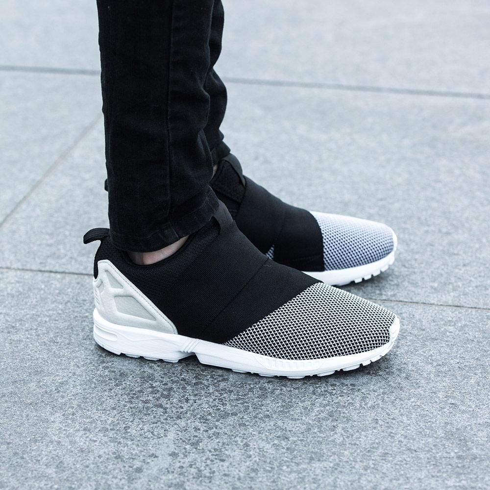 Keep it streamline in the adidas Originals ZX Flux Slip On Trainer.