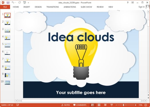 Idea Light Bulb Animated Slide  Presentersboard    Light