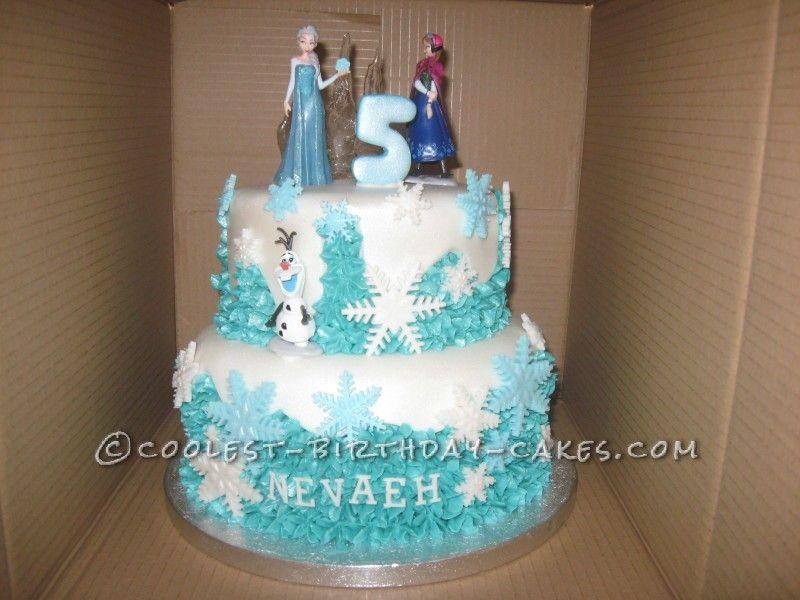 Cool Disney Frozen Birthday Cake Disney frozen birthday Disney