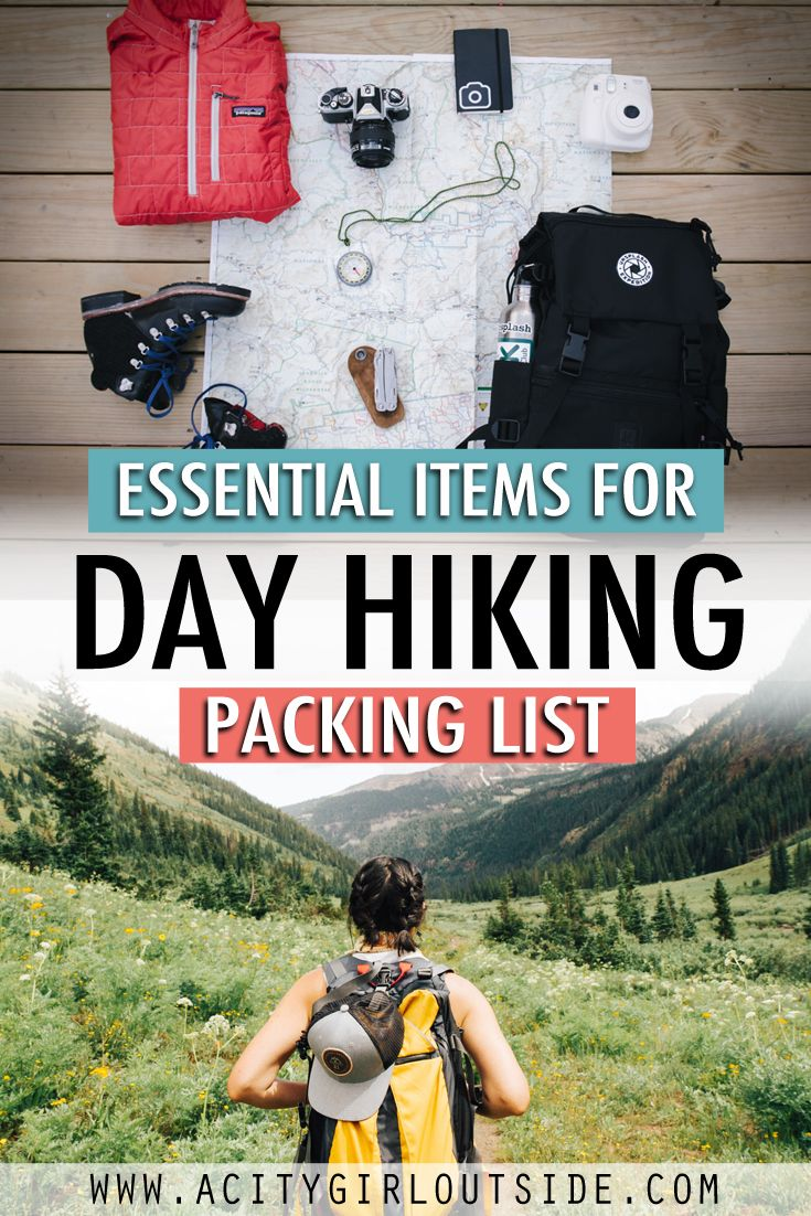 Essential Items For Day Hiking - Packing List