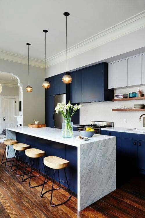 20 distinctive kitchen lighting ideas for your wonderful kitchen marble island marbles and navy