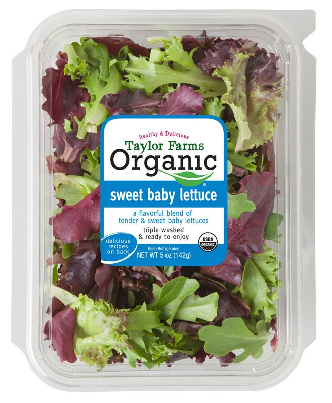 Organic Sweet Baby Lettuce Taylor Farms Vegetable Packaging Organic Salads Appetizers Easy