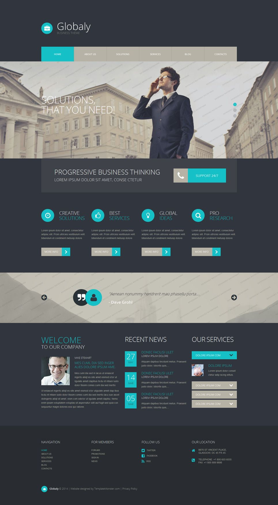 Free wordpress business theme webdesign pinterest free wordpress business theme accmission Image collections