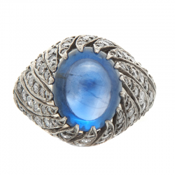 9 carat Sri Lankan cabochon blue sapphire