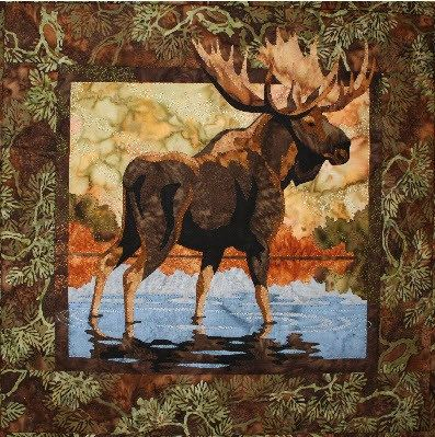 Hidden Lake Moose Toni Whitney Animal by AliceInStitchesArts ... : moose quilt pattern - Adamdwight.com