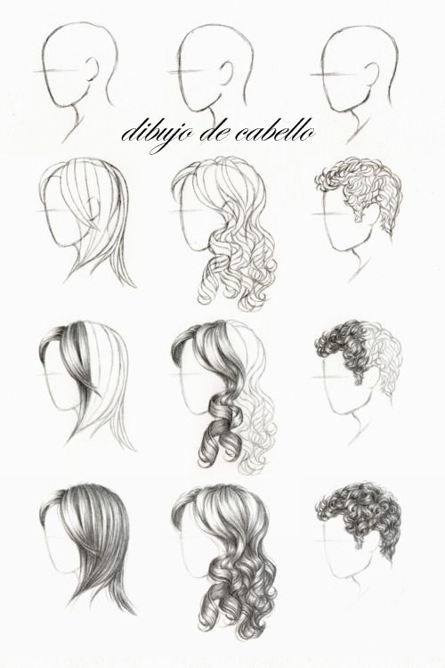 cristineitor | Drawing | Drawings, Drawing hair tutorial