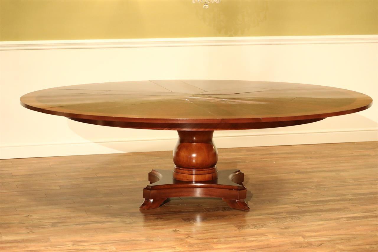 Extra Large Round Mahogany Jupe Table Seats 8 12 People