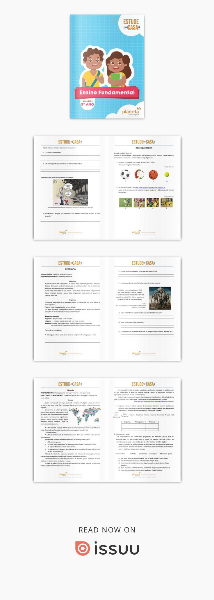 Revista Estude Em Casa Fundamental 1 5º Ano Osasco Pensando No Melhor Aproveitamento Do Tempo De Nossas Criancas Em Casa A Equipe Pe