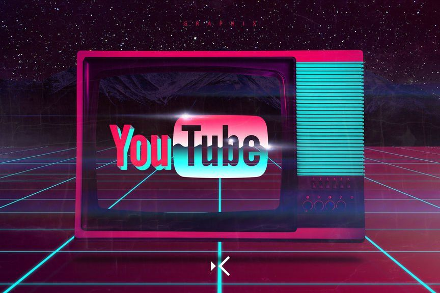 How to Make a YouTube 80s Based Logo Wallpaper Tutorial