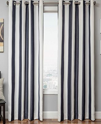 Softline Sunbrella Stripe 52 X 120 Panel Macy S Outdoor Curtains Indoor Outdoor Curtains Outdoor Curtain Panels