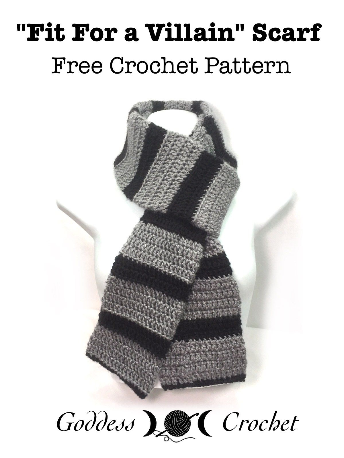 Fit For A Villain Scarf - Free Crochet Pattern | New hobbies ...