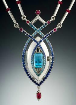 Reine de Glace Platnum Pendant Design by Lisa Krikawa Krikawa