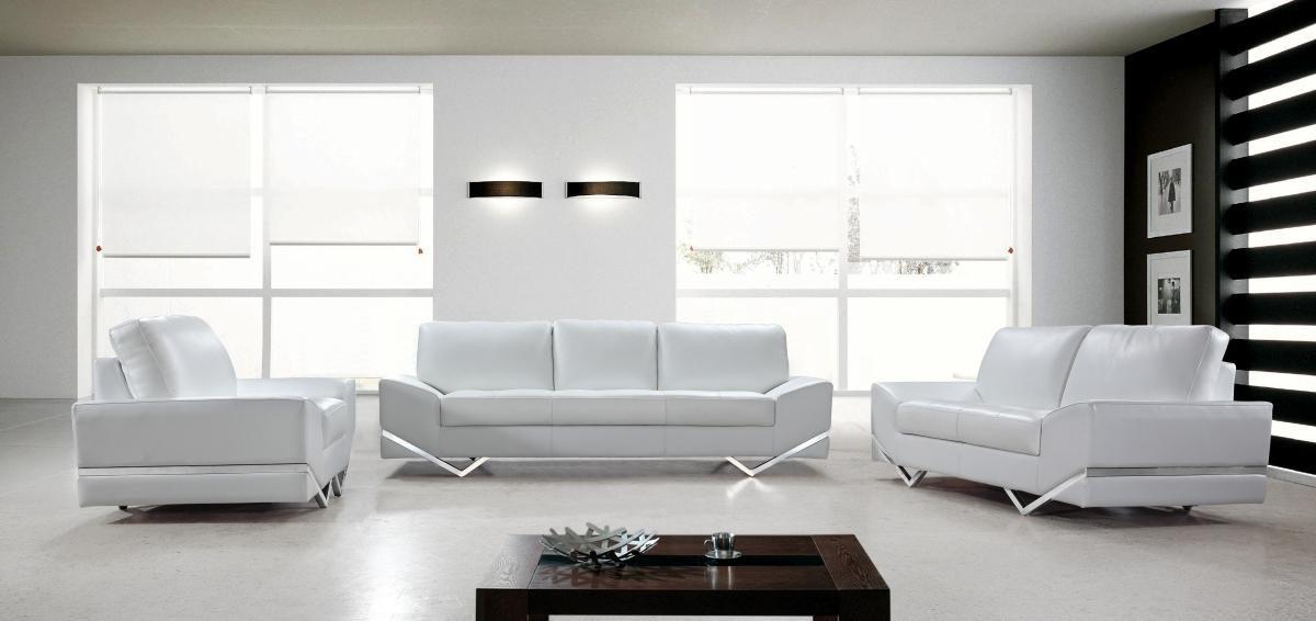 Divani Casa Vanity - White Modern Sofa Set - Sofas - Living Room ...