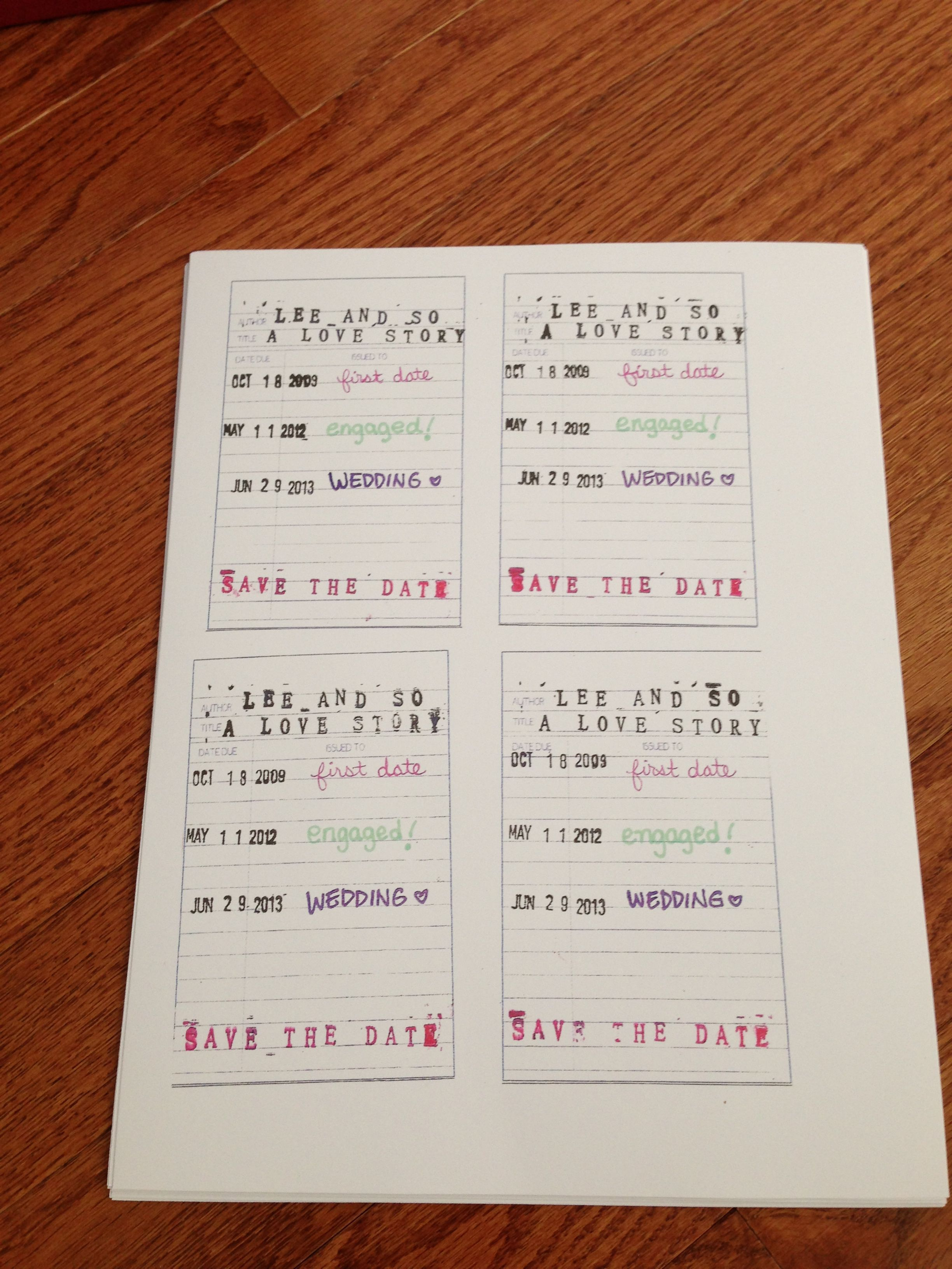 the other side of our library card save the dates jacqueline n lee