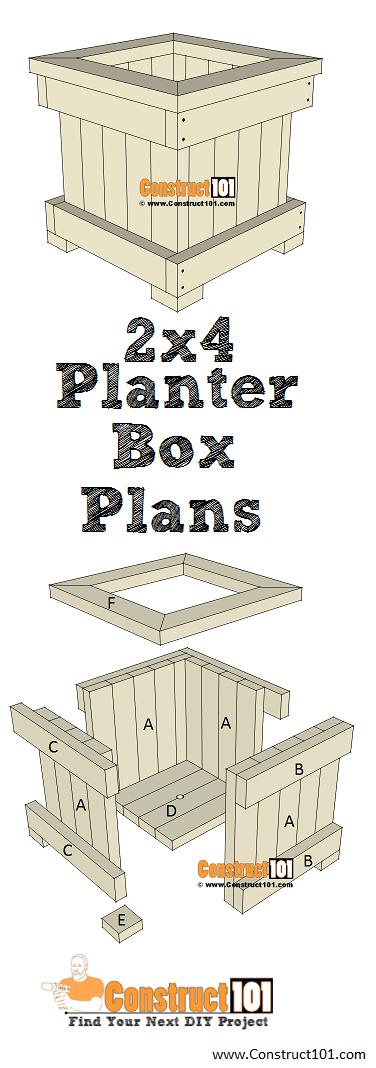 2X4 Planter Box Plans Pdf Download Planter Box Plans 400 x 300