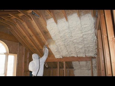 Sunny South Insulators Using Icynene with Wall Panels - YouTube ...