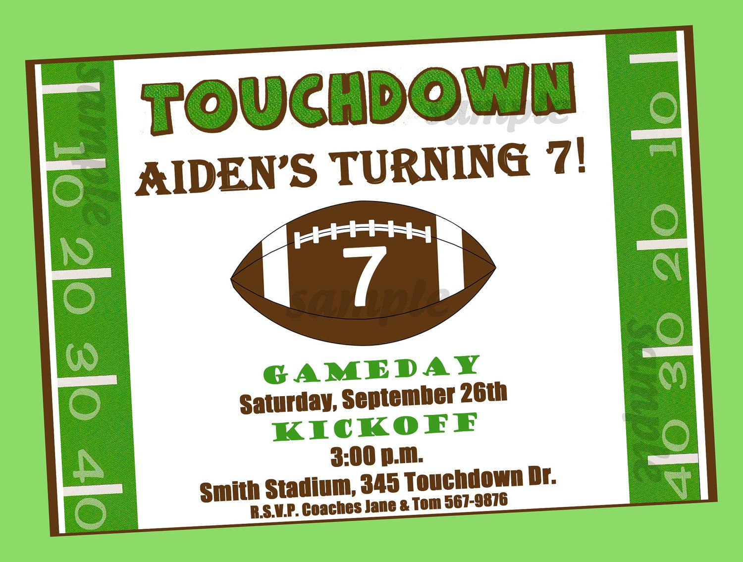 Free Printable Football Birthday Invitations  DREVIO  Football