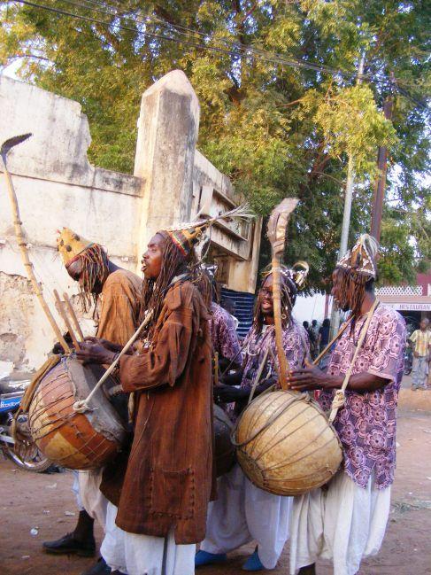 Griots at Festival sur Le Niger, Segou.
