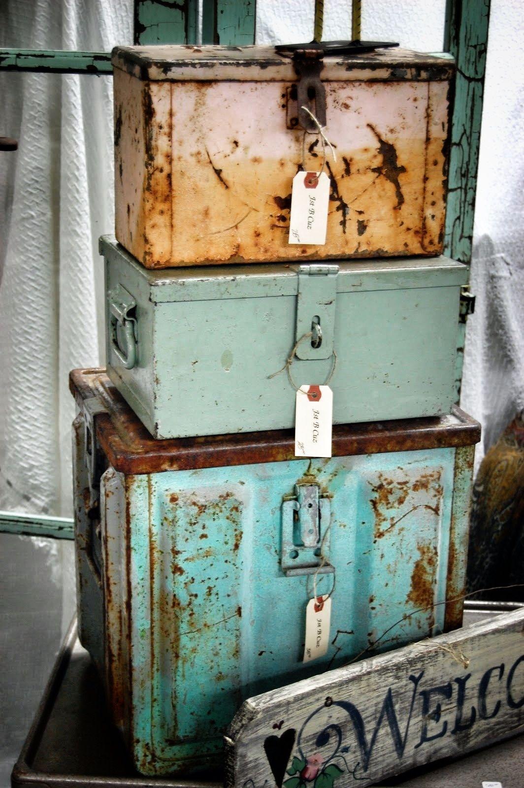 Metal boxes...