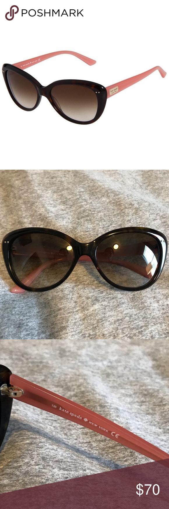 1e7ca5f53fbe Kate Spade Angelique Sunglasses Kate Spade Angelique Cat Eye Sunglasses Pink  In great condition!