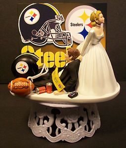 Pittsburgh Steelers Football Wedding Cake Topper Sports Funny EBay