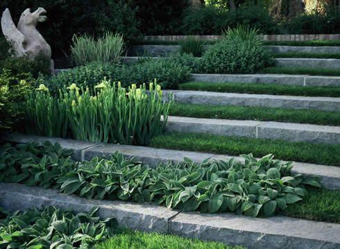 What We Have Done House Landscape Landscape Design Sloped Garden