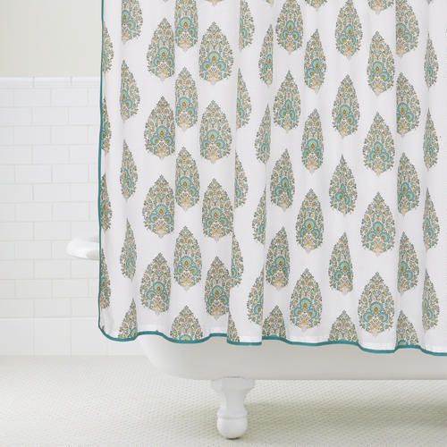 One Of My Favorite Discoveries At WorldMarket Peacock Bhuti Shower Curtain