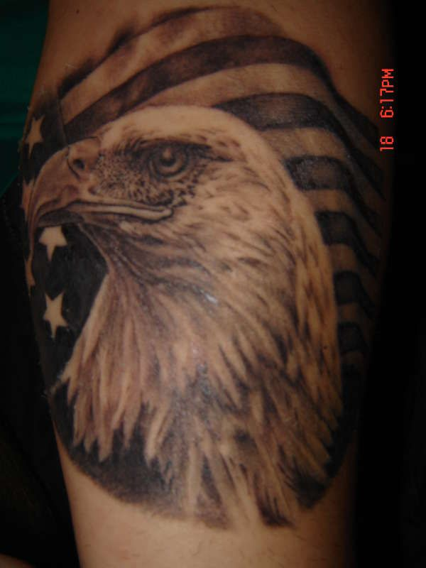 Eagle With American Flag Tattoo Design | Ink. | Patriotic ...