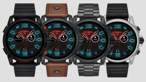 Diesel On Full Guard 2 5 Smartwatch Has A Neon Face And Gigantic Case Smart Watch Classic Watches Diesel