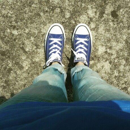 Blu All Stars | Chuck taylor sneakers, Chucks converse, Converse