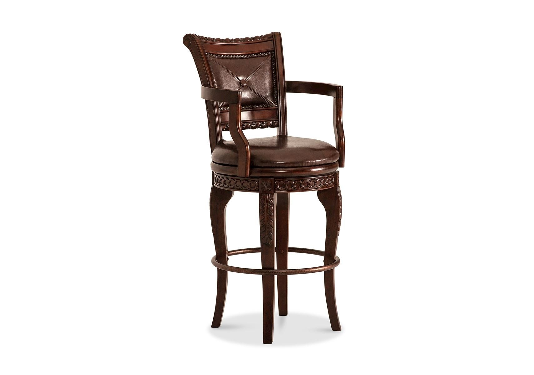Lacks Antoinette Upholstered Swivel Barstool Bar Stools Traditional Style Homes Upholster