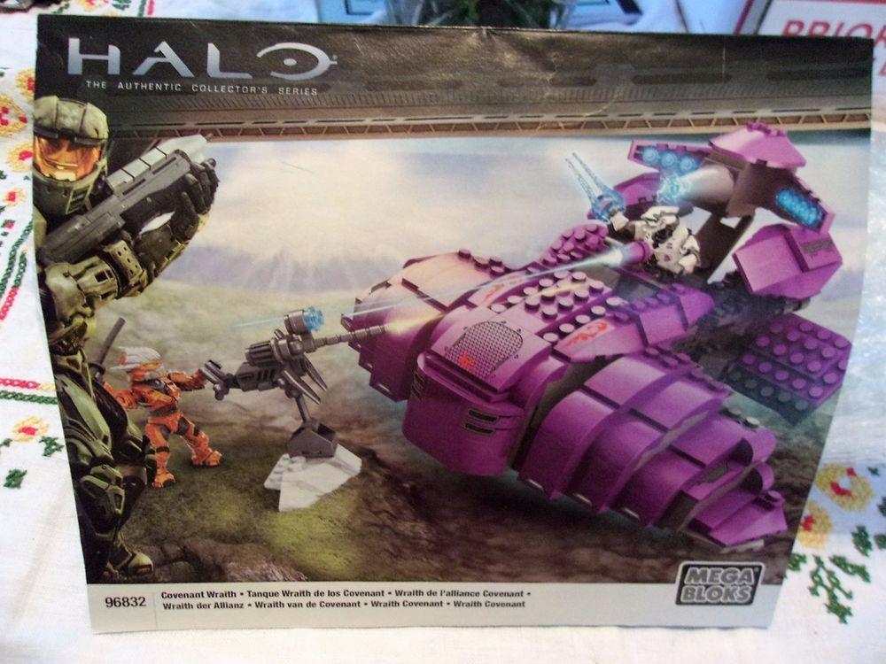 Halo Mega Bloks Covenant Wraith Tank 96832 Instruction Manual Only