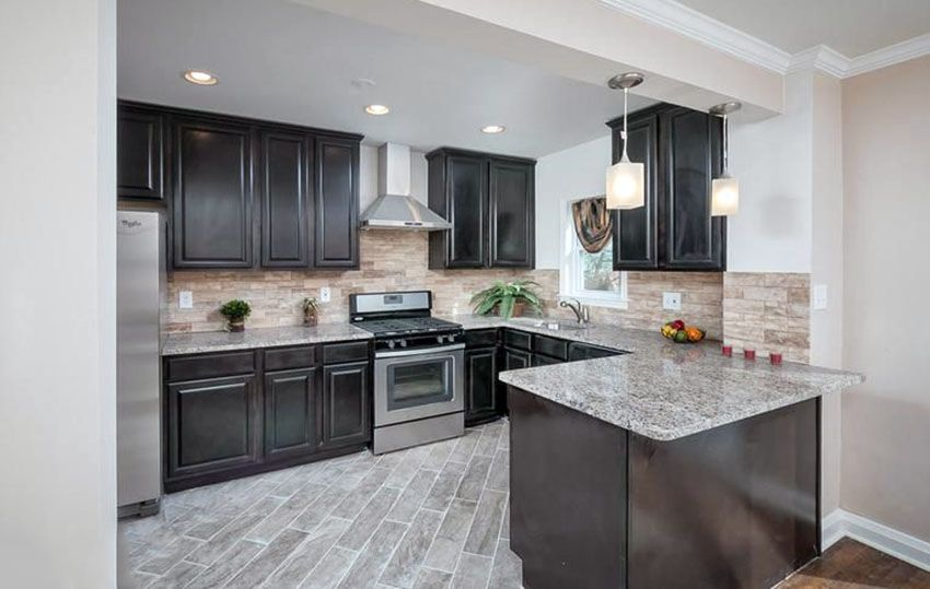 27 Small Kitchens With Dark Cabinets Design Ideas Dark Kitchen