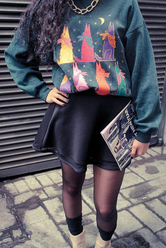 20 años de sudadera. Daily Outfit #OddCatrina Mom's 20 year old sweatshirt…