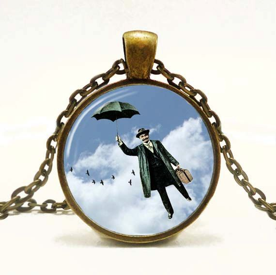 Steampunk  Art Pendant Steampunk Necklace Humorous by snowdrop88, $14.00