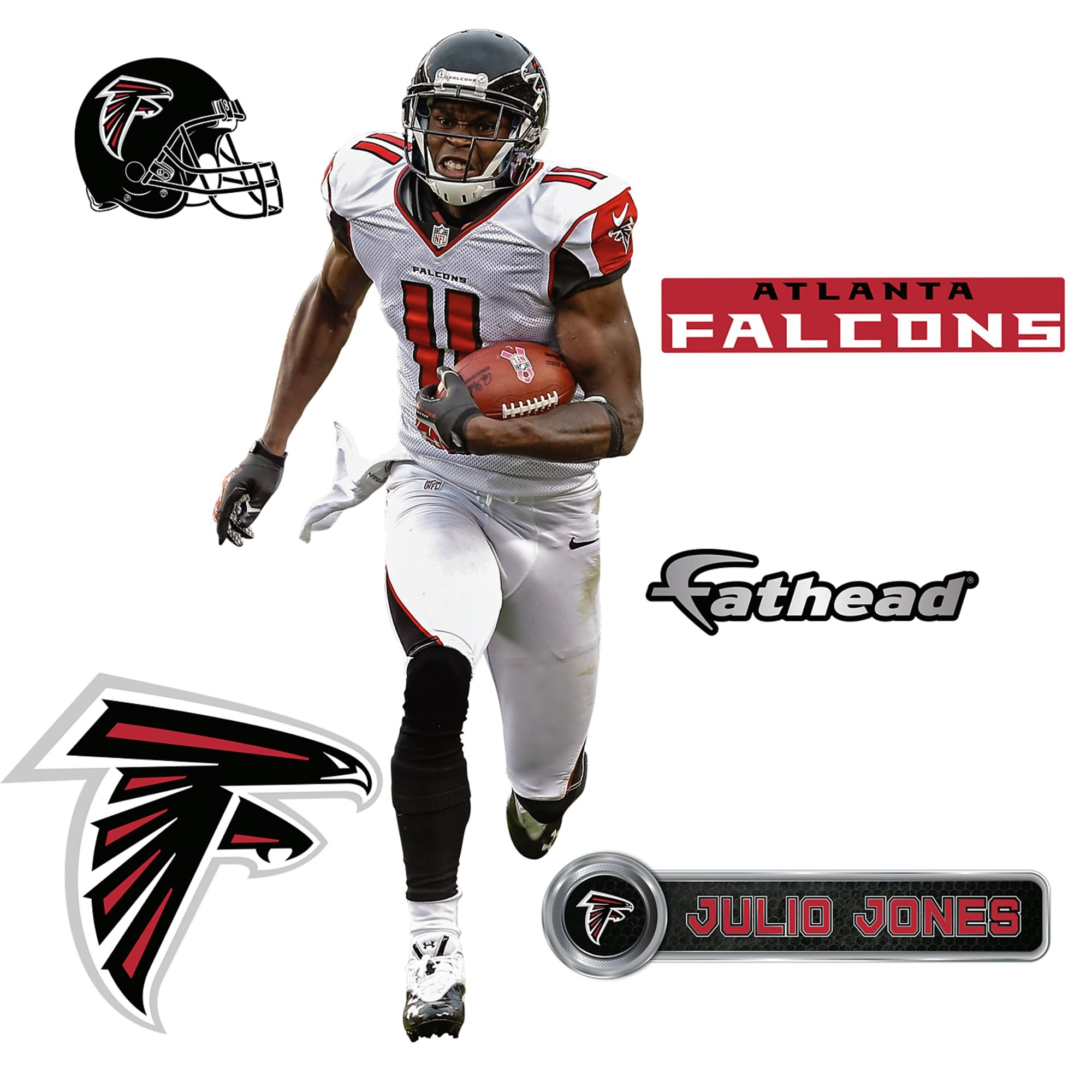 Julio Jones Large Officially Licensed Nfl Removable Wall Decal Removable Wall Decals Julio Jones Removable Wall