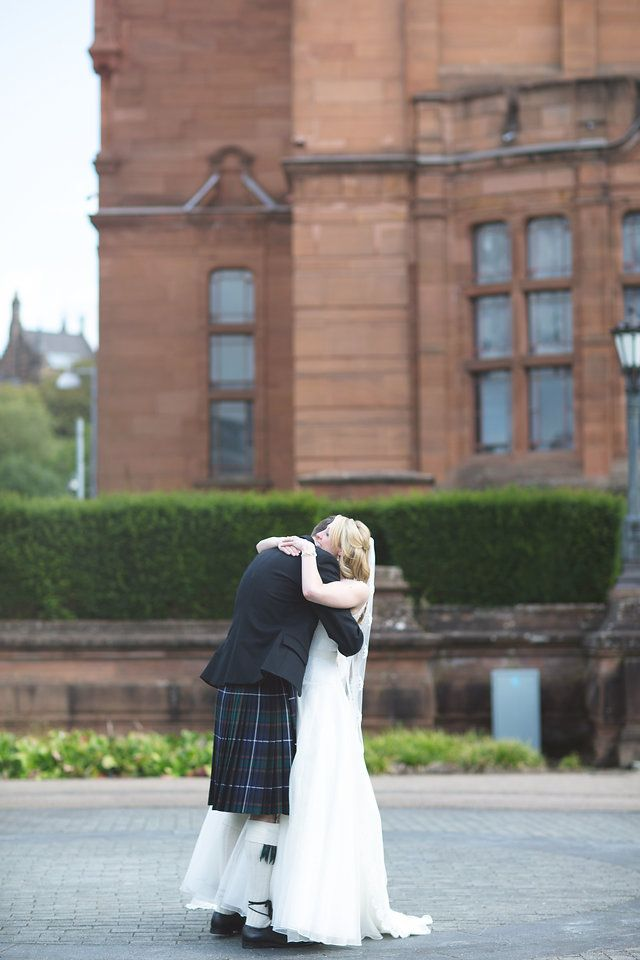 First Look Wedding City Natural Photographers Glasgow Scotland The Gibsons We