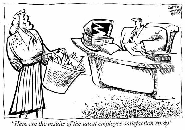 Cartoon Here Are The Results Of The Employee Satisfaction Study