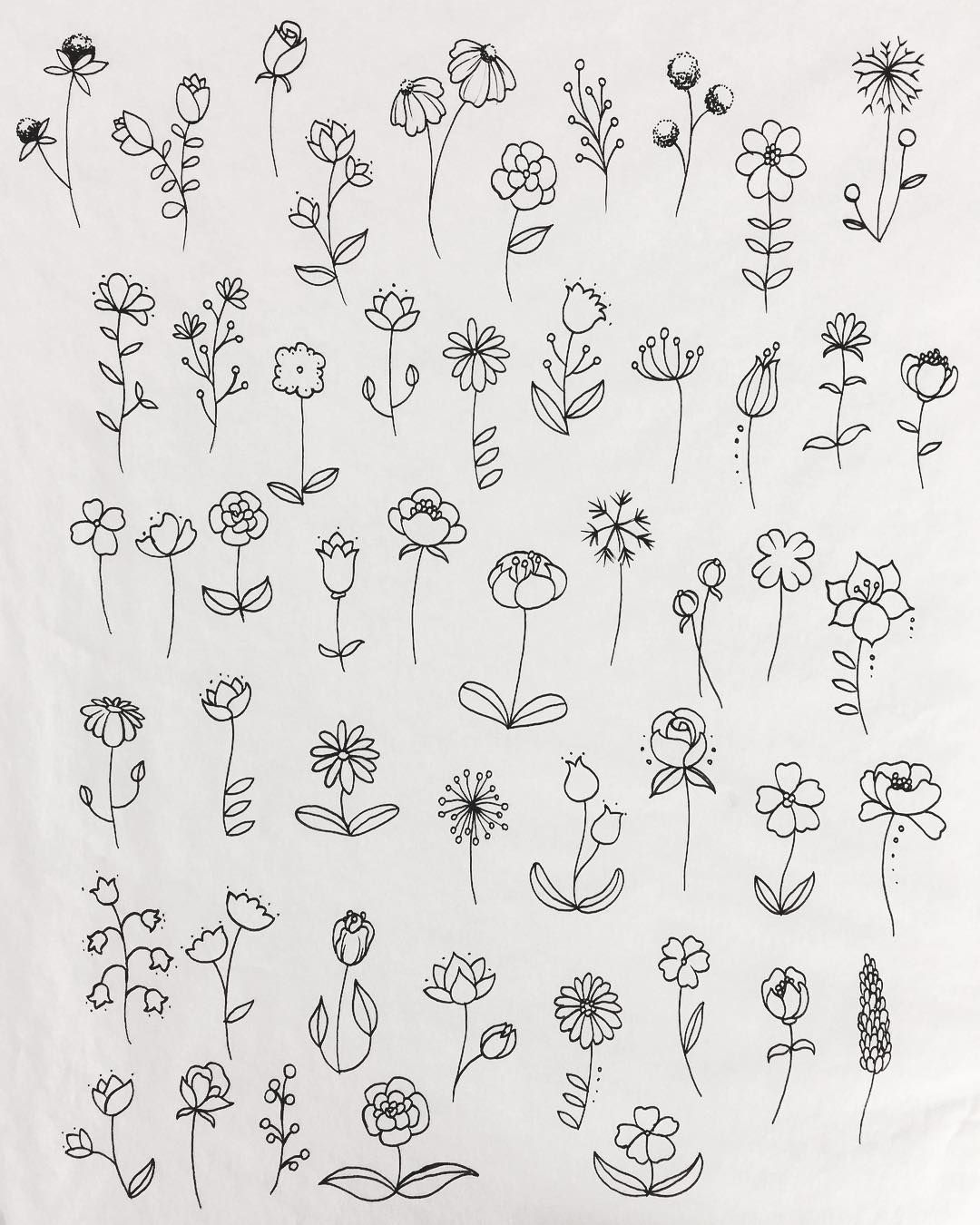 55 Simple Small Flowers Tattoos Drawing Tattoos Ideas For Women