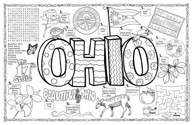 Ohio State Facts And Symbols Ohio Symbols Facts Funsheet