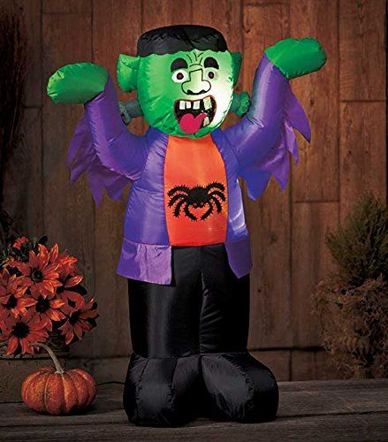 led lighted halloween inflatable blow up monster yard outdoor lawn airblown decor knl store http