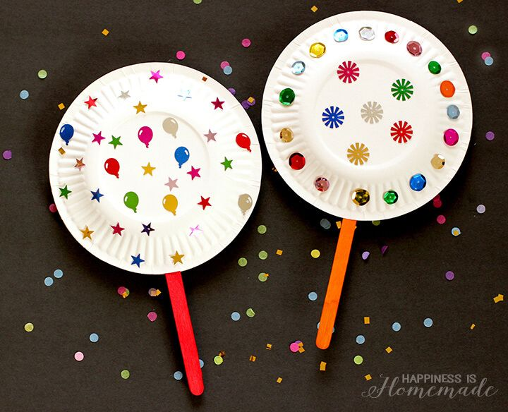 New Year Craft Ideas For Kids Part - 28: Paper Plate Shaker Noisemakers For New Years Eve - Kids Craft