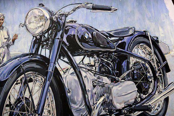 """painting. Vintage #BMW R5. #Motorcycle #Art."""""""
