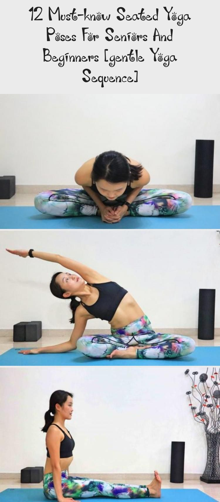 12 Must Know Seated Yoga Poses For Seniors And Beginners Gentle Yoga Sequence In 2020 Seated Yoga Poses Gentle Yoga Yoga Poses